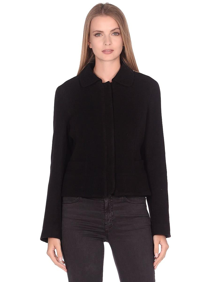 Женское демисезонное пальто hr-037 черное фото-2