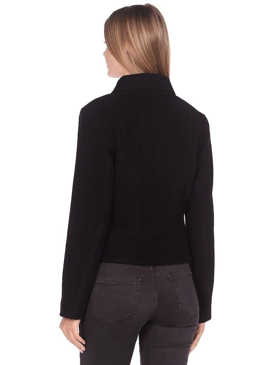 Женское демисезонное пальто hr-037 черное фото-3