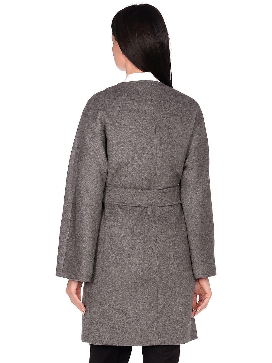 Женское демисезонное пальто hr-039A серое фото-3