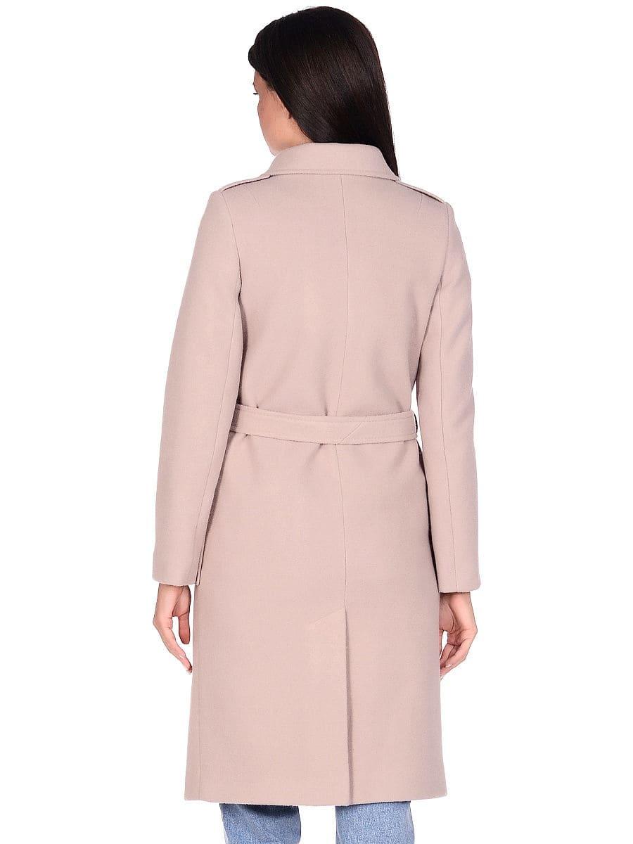 Женское демисезонное пальто hr-040 бежевое фото-3