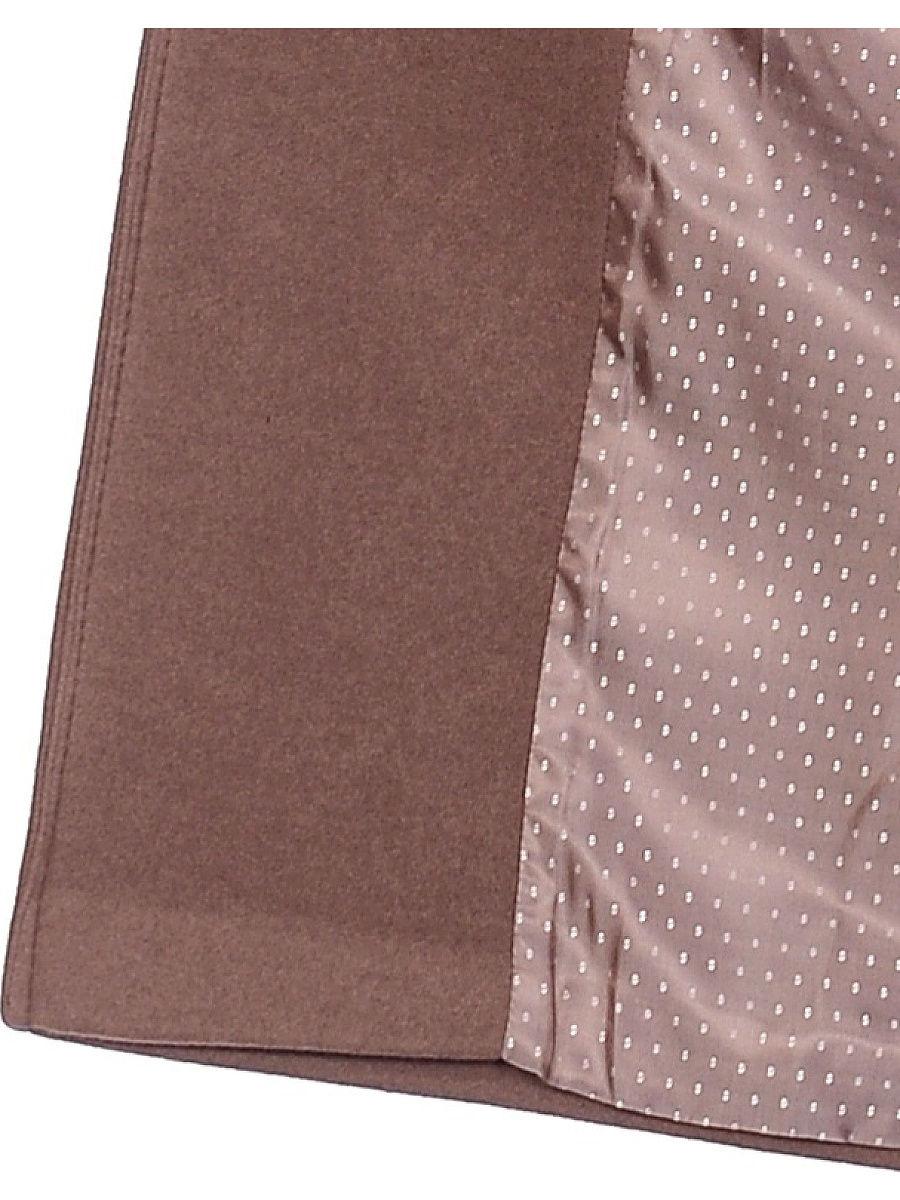 Женское демисезонное пальто hr-040 коричневое фото-4