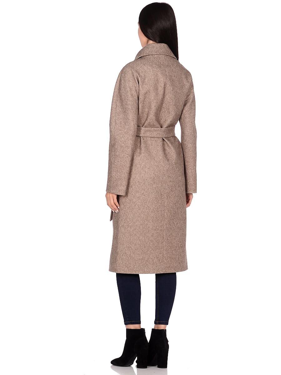 Женское демисезонное пальто hr-041 бежевое фото-3