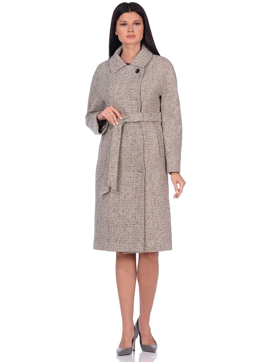 Женское демисезонное пальто hr-041 светло-бежевое фото-1