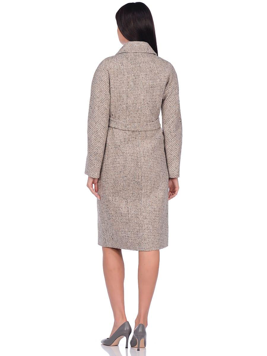 Женское демисезонное пальто hr-041 светло-бежевое фото-3