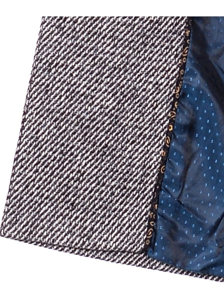 Женское демисезонное пальто hr-041 синее фото-4