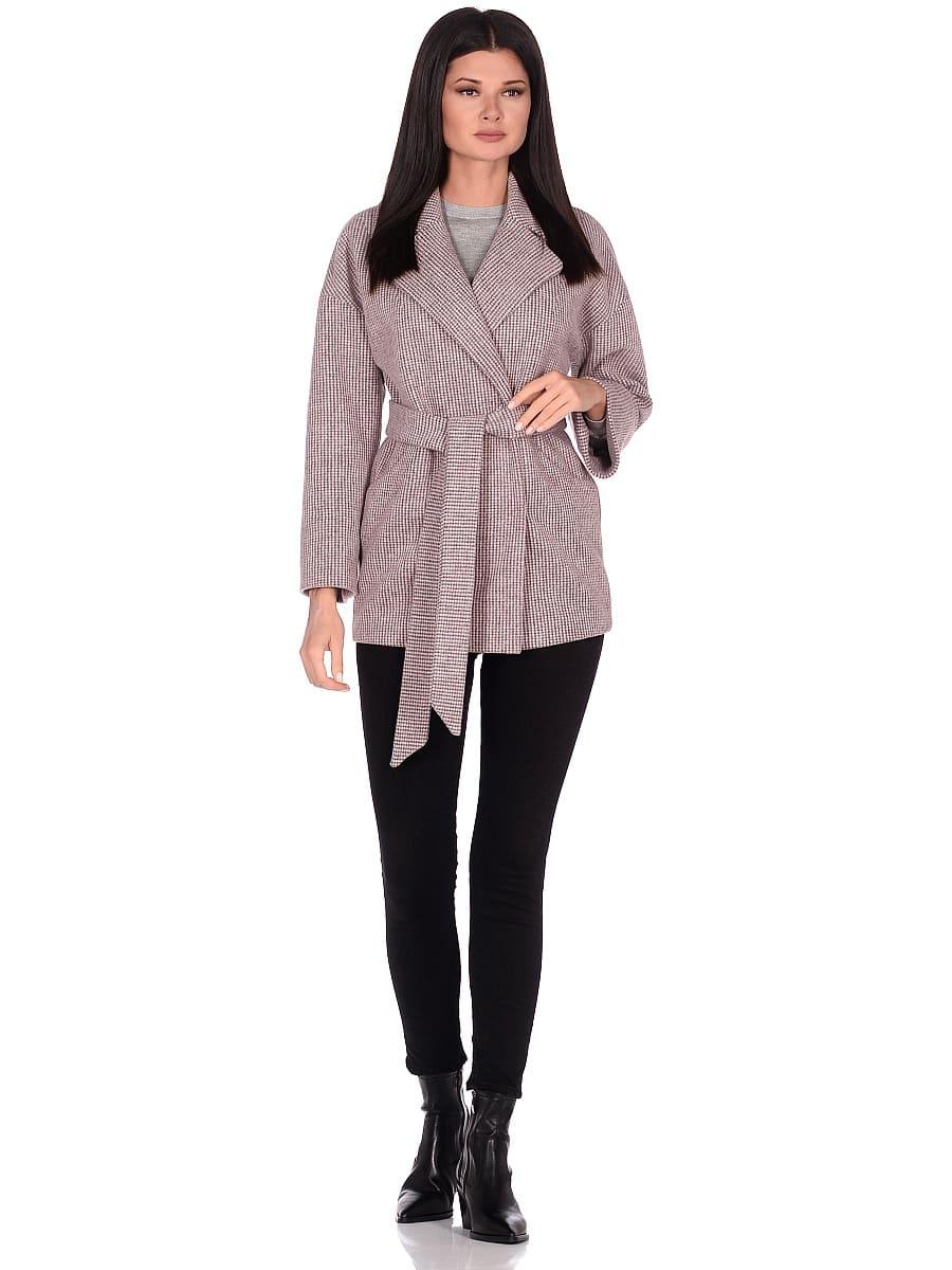Женское демисезонное пальто hr-042 коричневое фото-1
