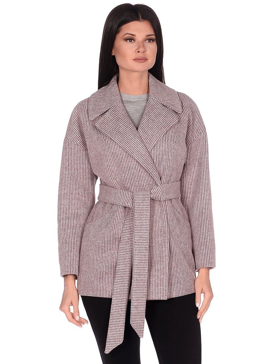 Женское демисезонное пальто hr-042 коричневое фото-2
