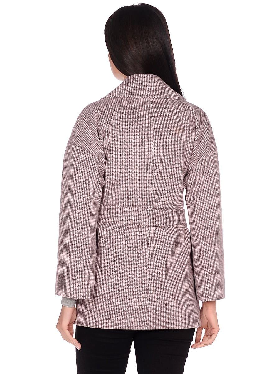 Женское демисезонное пальто hr-042 коричневое фото-3