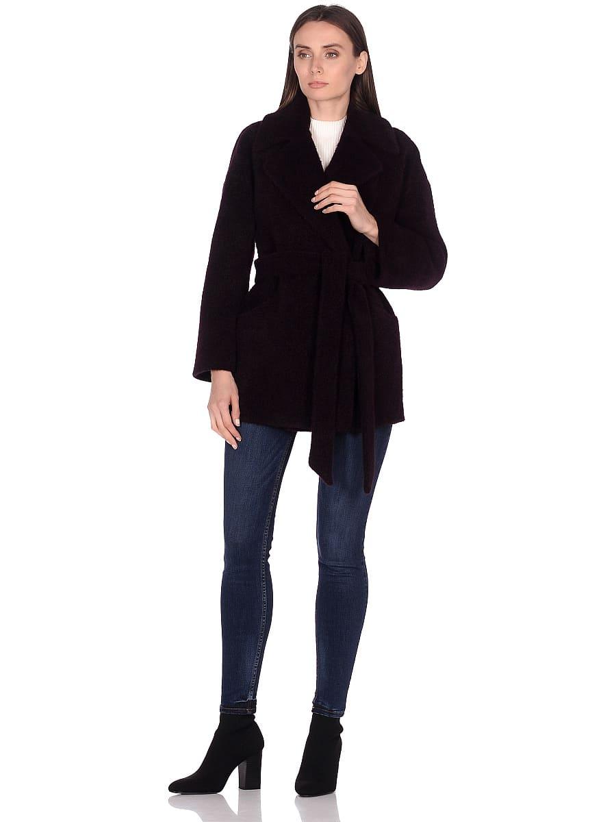 Женское демисезонное пальто hr-042 фиолетовое фото-1