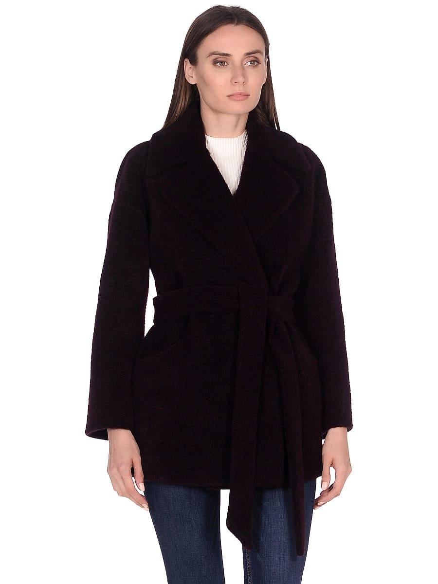 Женское демисезонное пальто hr-042 фиолетовое фото-2