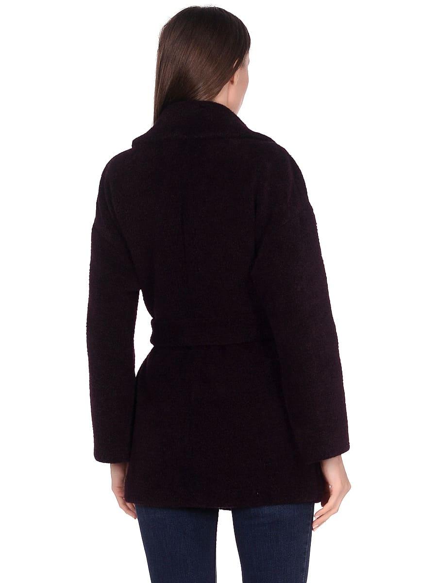 Женское демисезонное пальто hr-042 фиолетовое фото-3