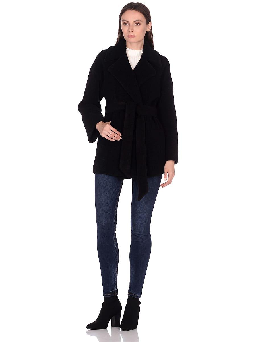 Женское демисезонное пальто hr-042 черное фото-1