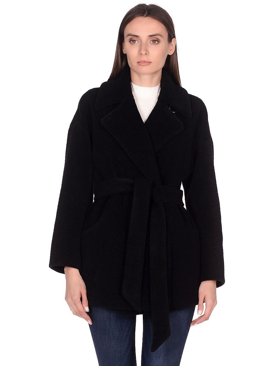 Женское демисезонное пальто hr-042 черное фото-2