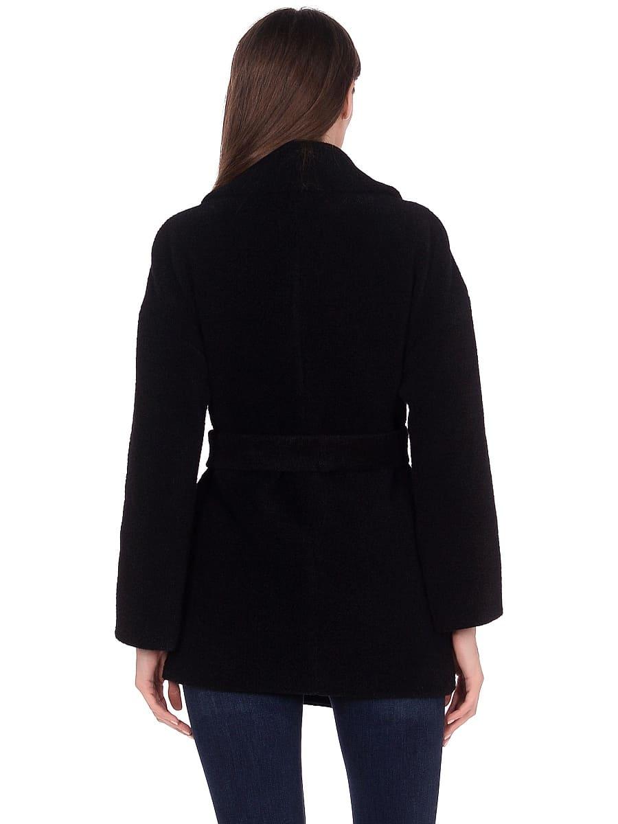 Женское демисезонное пальто hr-042 черное фото-3