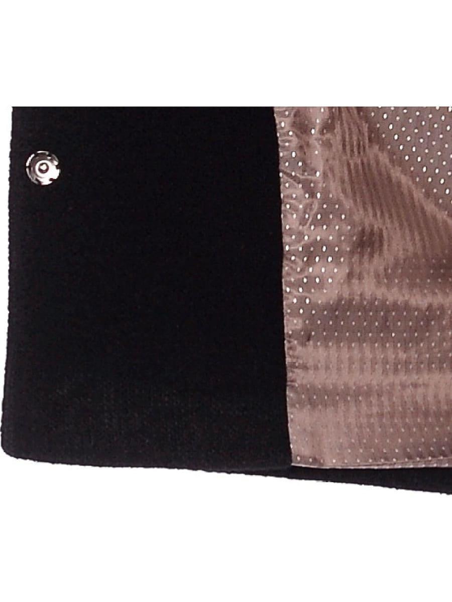 Женское демисезонное пальто hr-042 черное фото-4