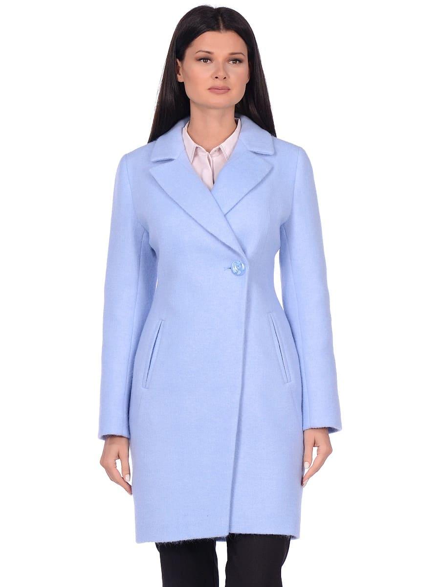 Женское демисезонное пальто hr-043 голубое фото-2