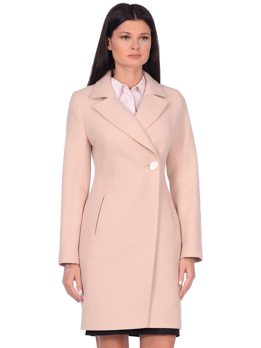 Женское демисезонное пальто hr-043 светло-бежевое фото-2