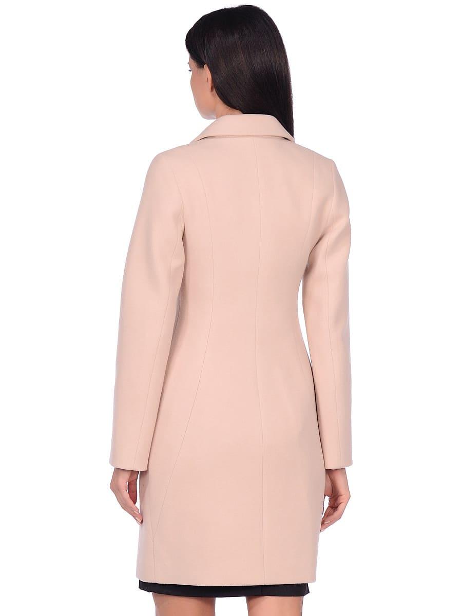 Женское демисезонное пальто hr-043 светло-бежевое фото-3