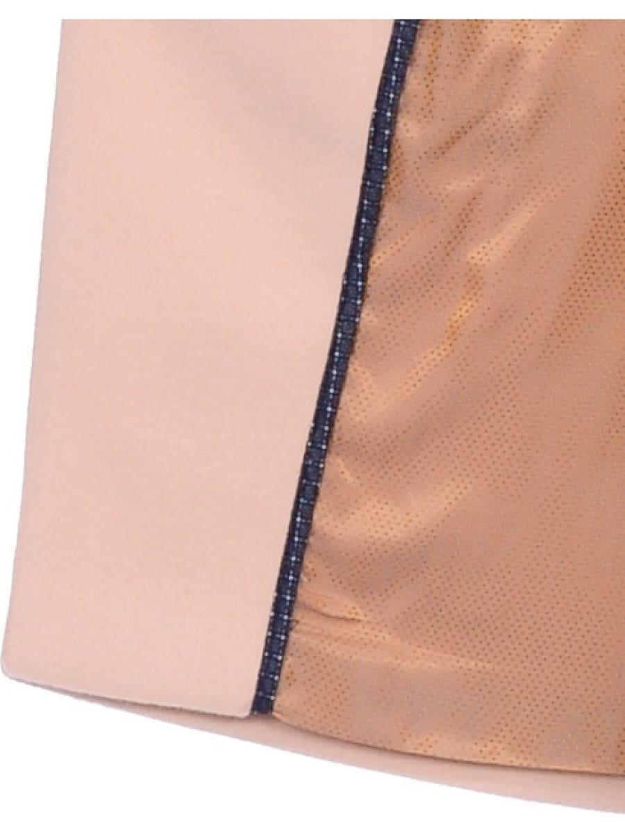 Женское демисезонное пальто hr-043 светло-бежевое фото-4