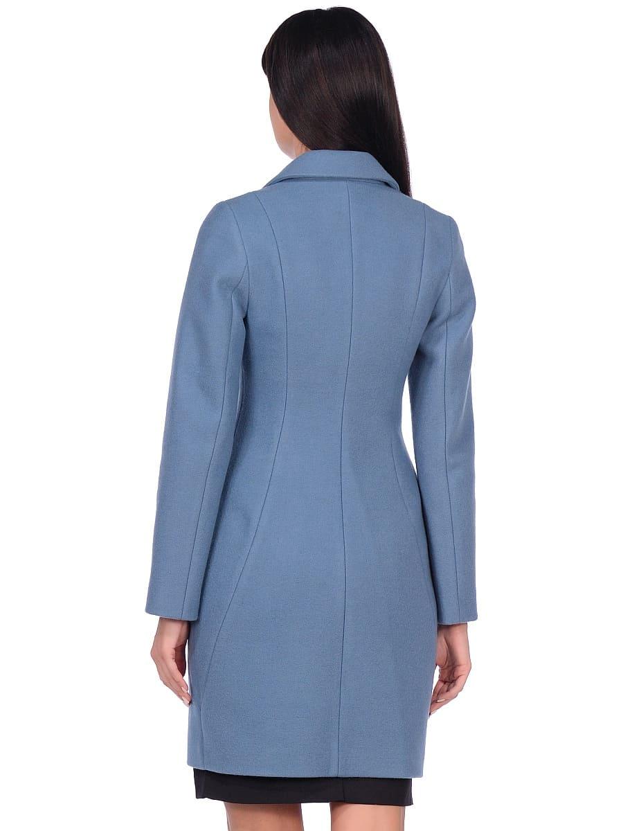 Женское демисезонное пальто hr-043 синее фото-3