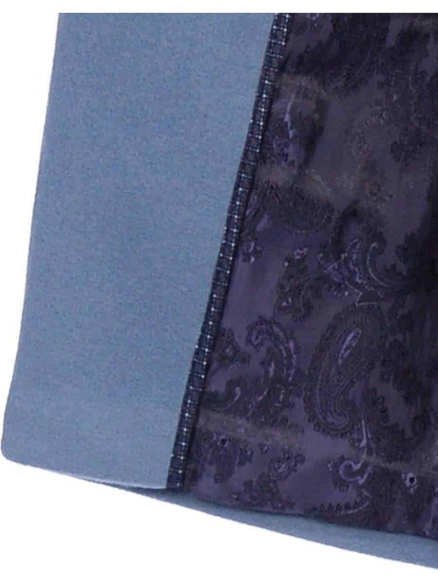 Женское демисезонное пальто hr-043 синее фото-4