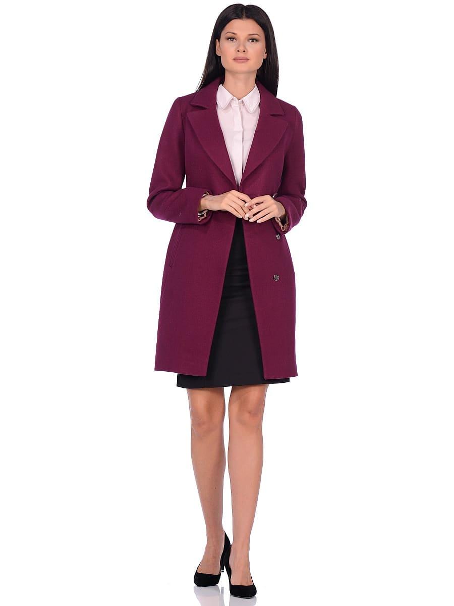 Женское демисезонное пальто hr-043 фиолетовое фото-1