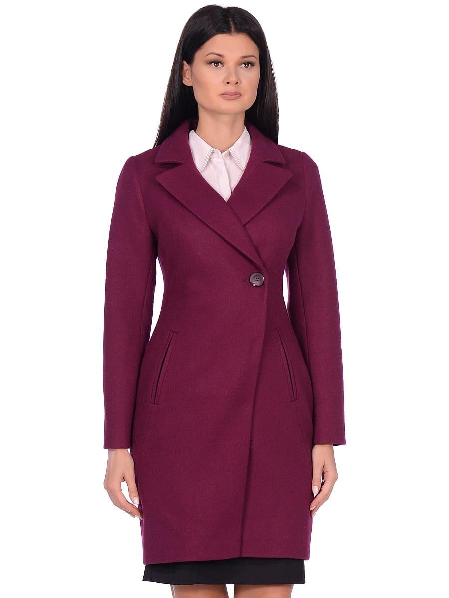 Женское демисезонное пальто hr-043 фиолетовое фото-2