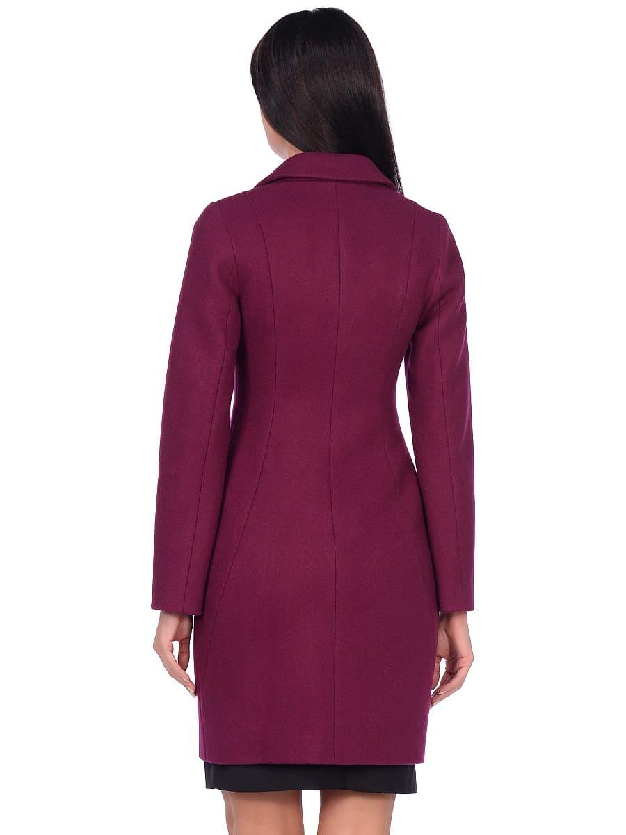Женское демисезонное пальто hr-043 фиолетовое фото-3