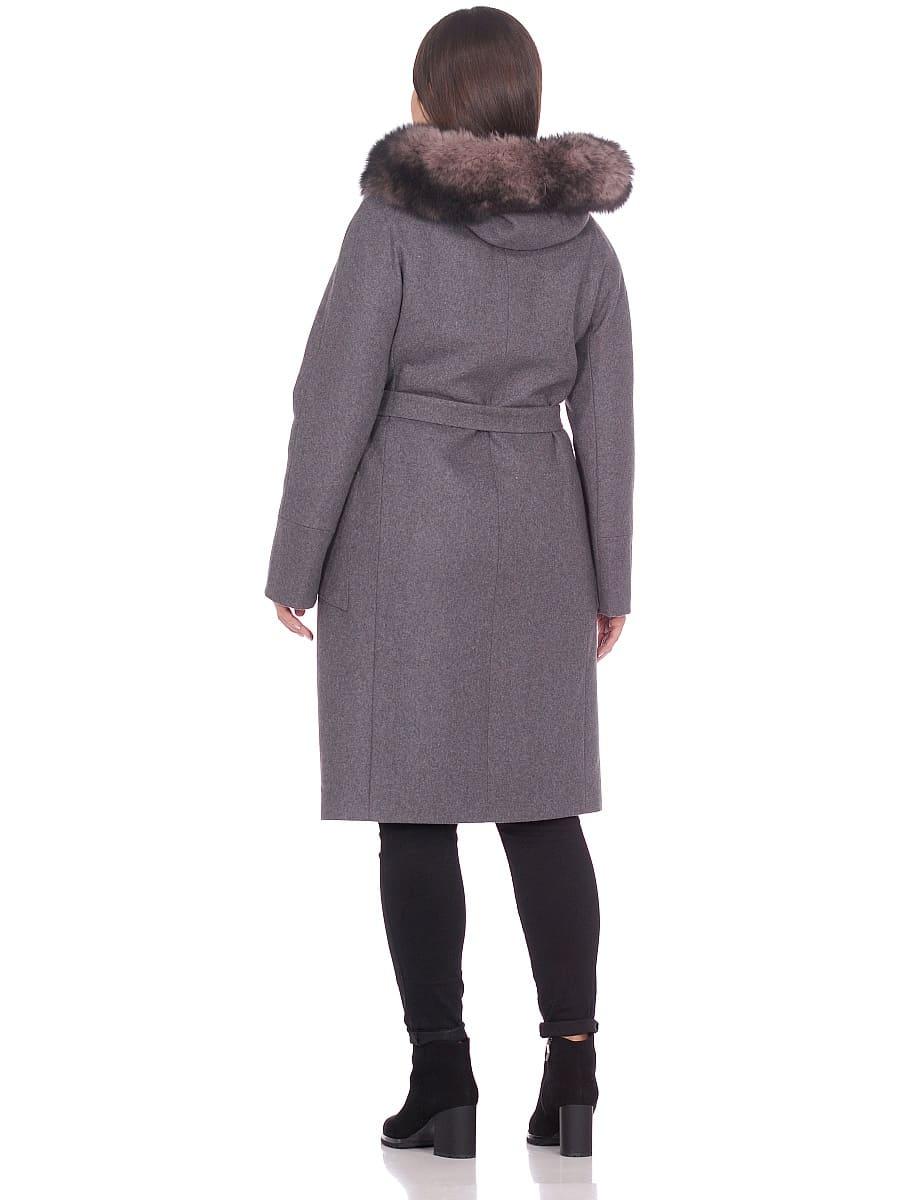 Женское зимнее пальто hr-1008 серое фото-3