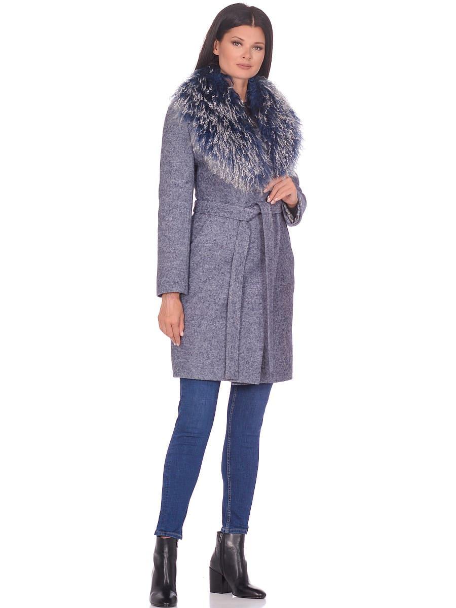 Женское зимнее пальто hr-1009 синее-фото-1