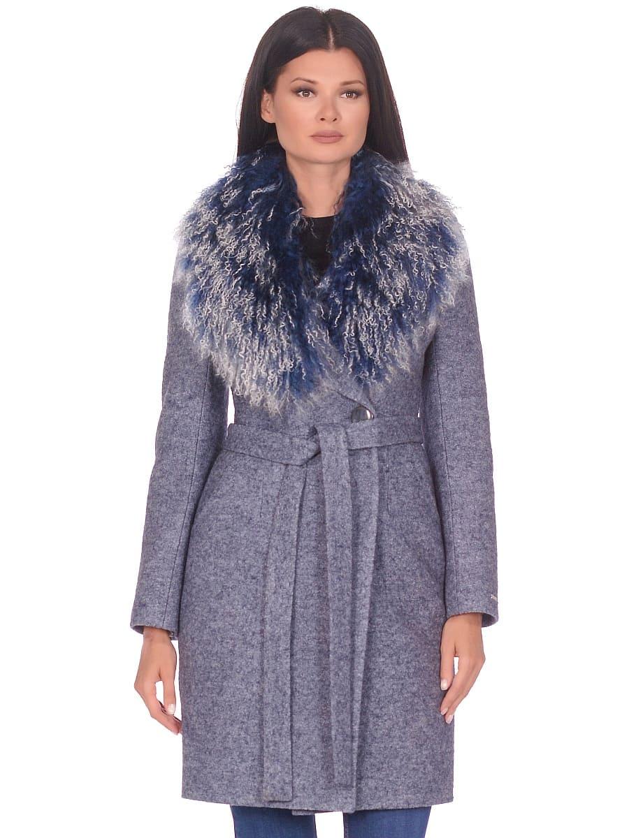 Женское зимнее пальто hr-1009 синее-фото-2