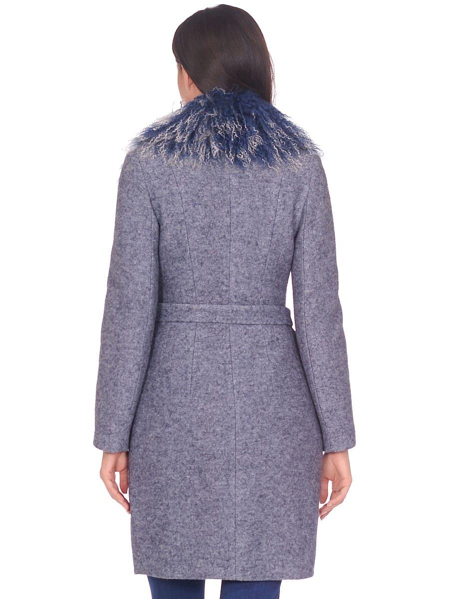 Женское зимнее пальто hr-1009 синее-фото-3
