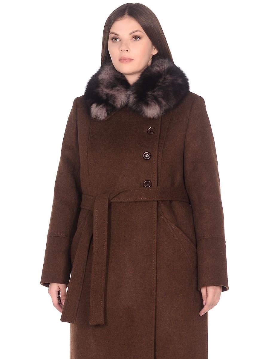 Женское зимнее пальто hr-1010 коричневое фото-2