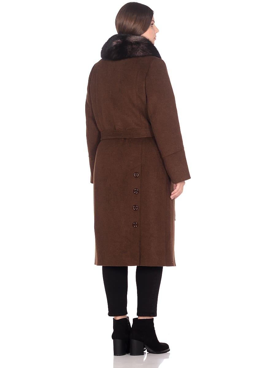 Женское зимнее пальто hr-1010 коричневое фото-3