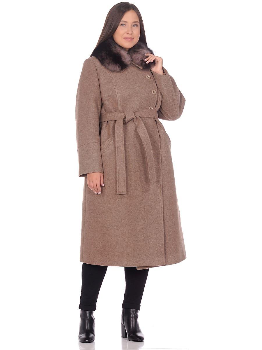 Женское зимнее пальто hr-1010 оливковое фото-1