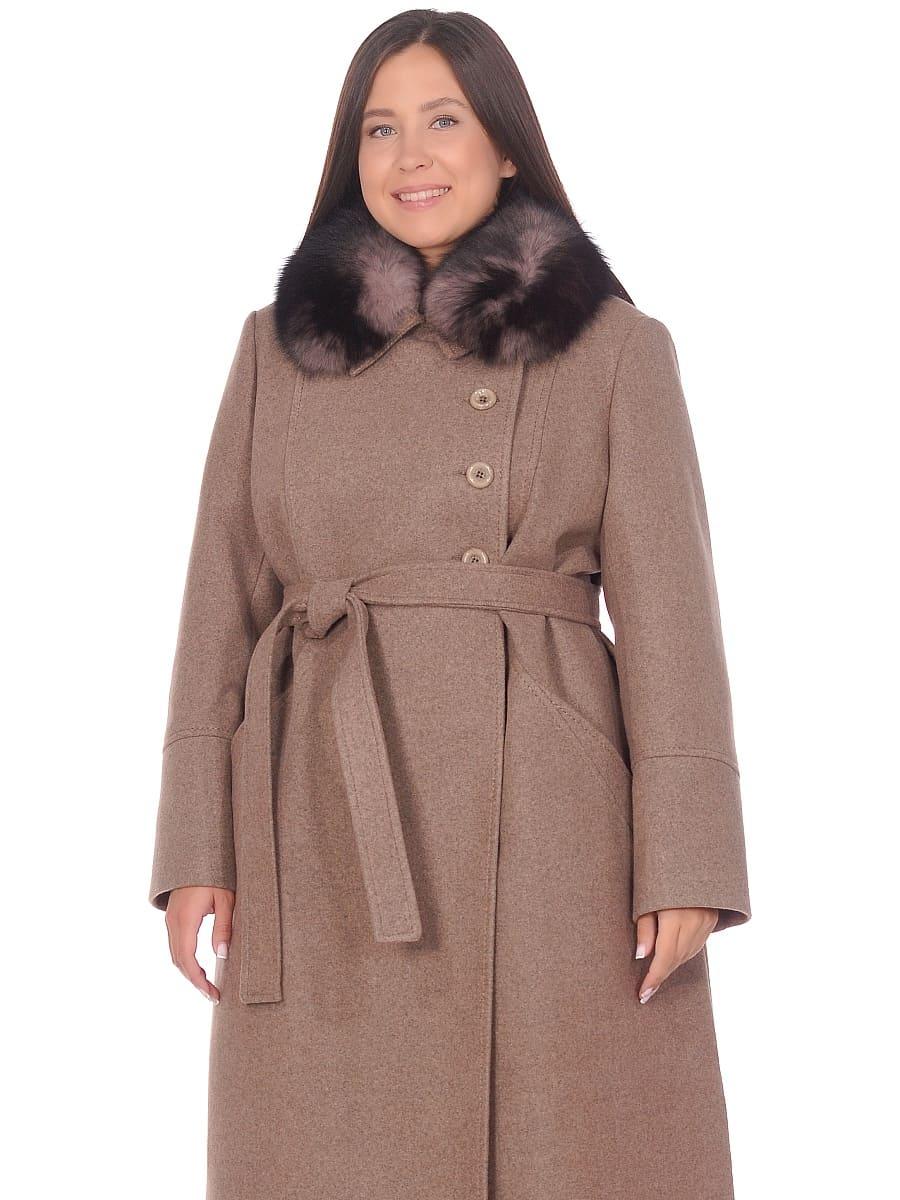 Женское зимнее пальто hr-1010 оливковое фото-2