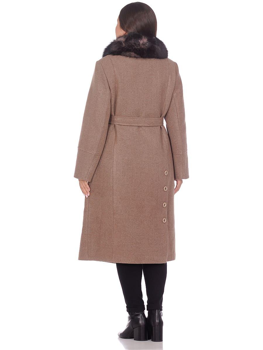 Женское зимнее пальто hr-1010 оливковое фото-3