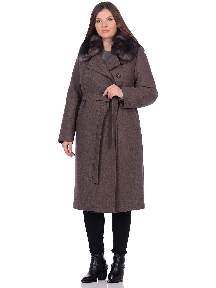 Женское зимнее пальто hr-1010 темно-коричневое фото-1