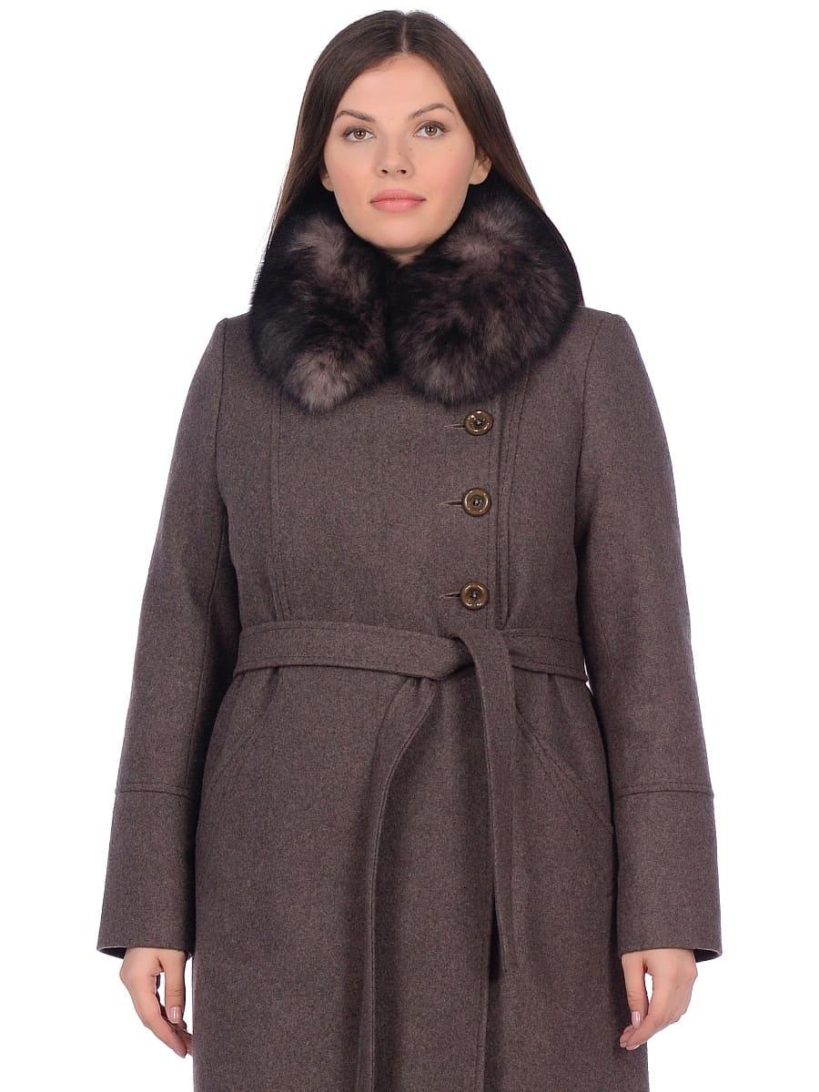 Женское зимнее пальто hr-1010 темно-коричневое фото-2