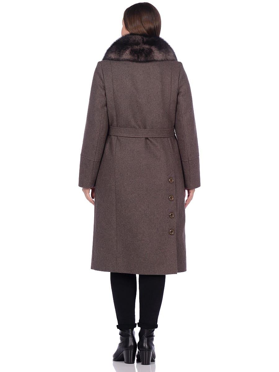 Женское зимнее пальто hr-1010 темно-коричневое фото-3