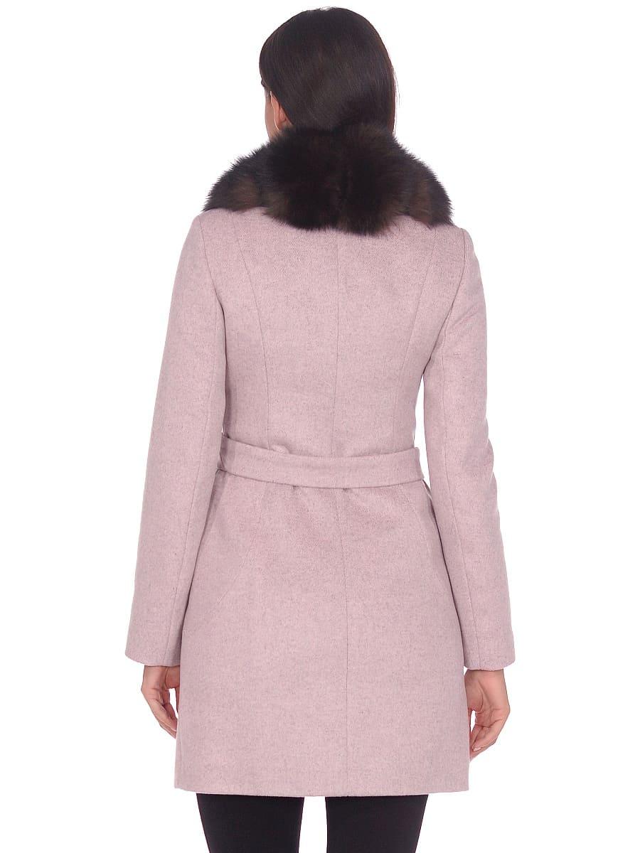 Женское зимнее пальто hr-1011 бледно-розовое фото-3