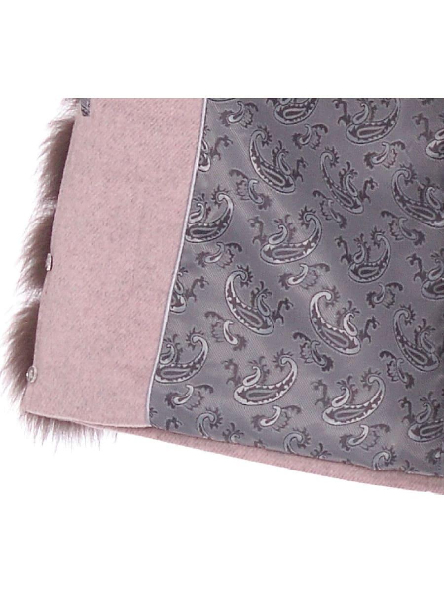 Женское зимнее пальто hr-1011 бледно-розовое фото-4