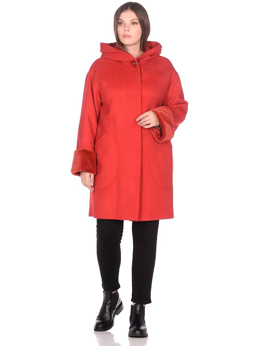 Женское зимнее пальто hr-1012 красное фото-1