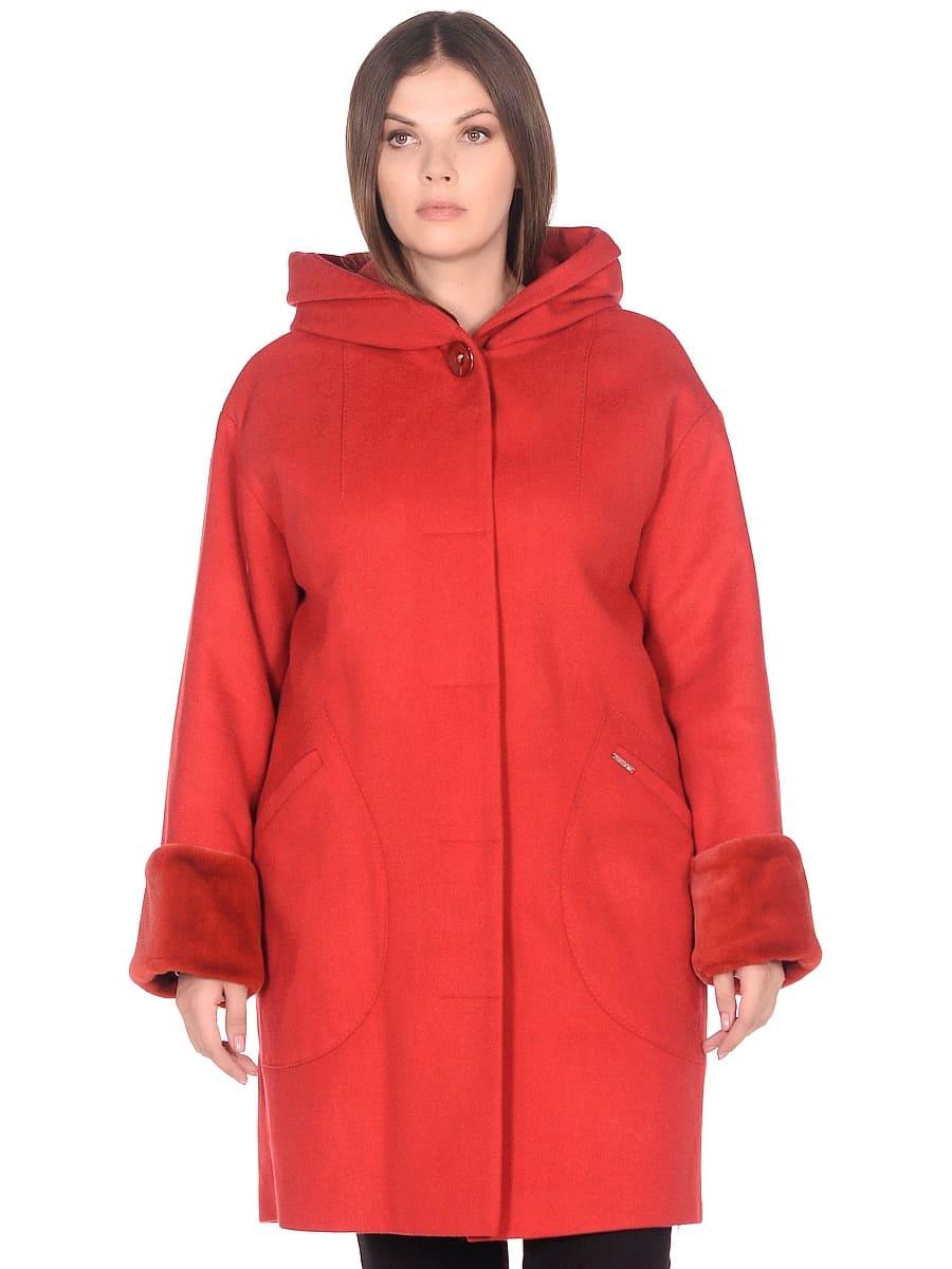 Женское зимнее пальто hr-1012 красное фото-2