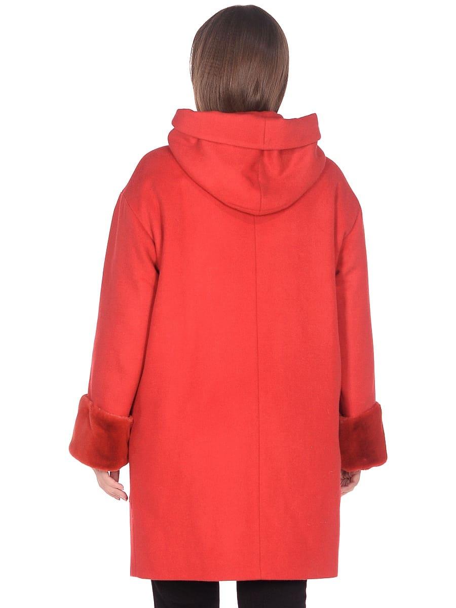 Женское зимнее пальто hr-1012 красное фото-3