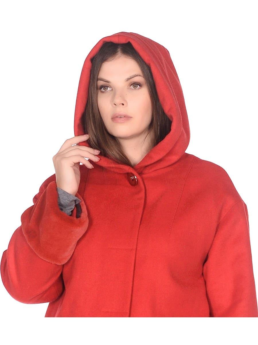 Женское зимнее пальто hr-1012 красное фото-4