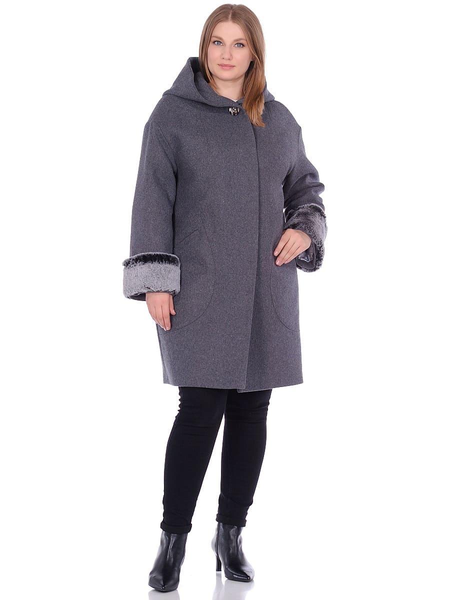Женское зимнее пальто hr-1012 серое фото-1