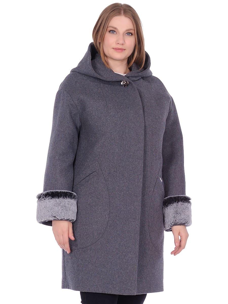 Женское зимнее пальто hr-1012 серое фото-2