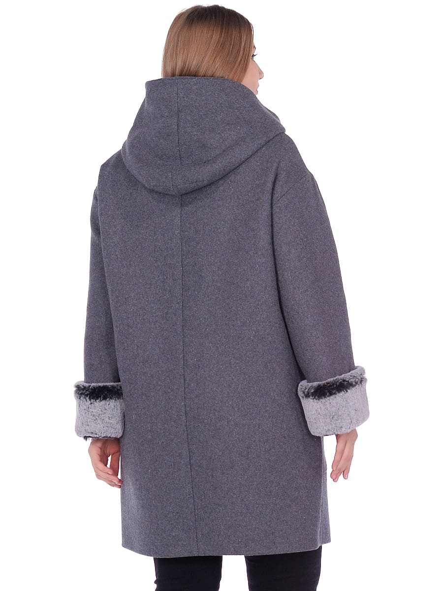 Женское зимнее пальто hr-1012 серое фото-3
