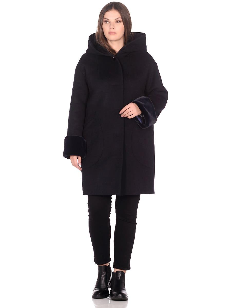 Женское зимнее пальто hr-1012 синее фото-1